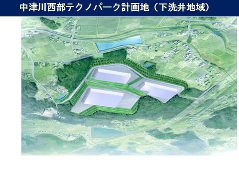 中津川西部テクノパーク計画地(下洗井地域内)
