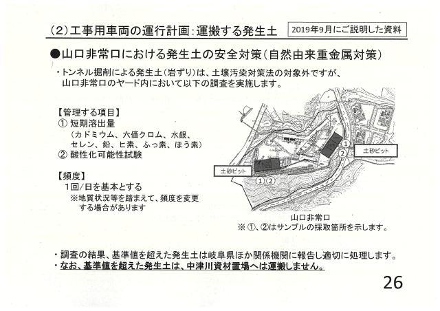 工事用車両の運行計画:運搬する発生土