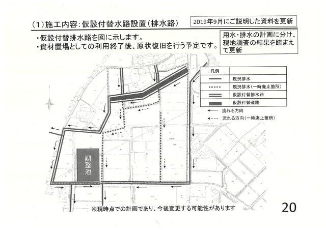 施工内容:仮設付替水路設置(排水路)②