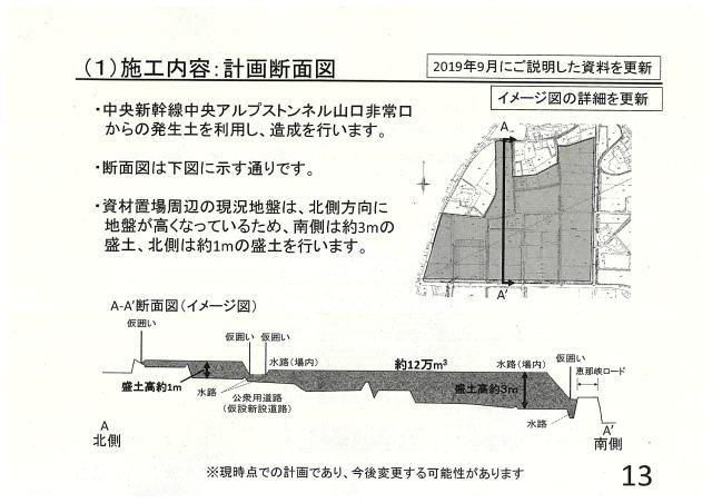 施工内容:計画断面図