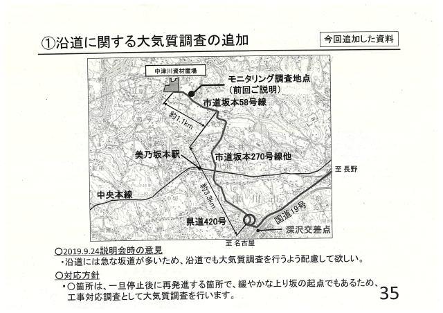 沿道に関する大気質調査の追加①
