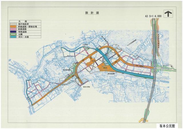 リニア岐阜県駅周辺の設計図